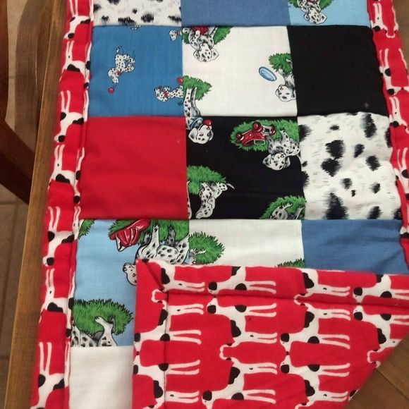 Handmade Dalmatian Dog Quilt For Kennel
